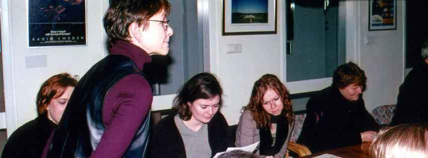 Skruv besöker Sveriges Radios ryska redaktion
