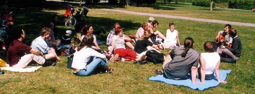 Medlemsträff som picknick
