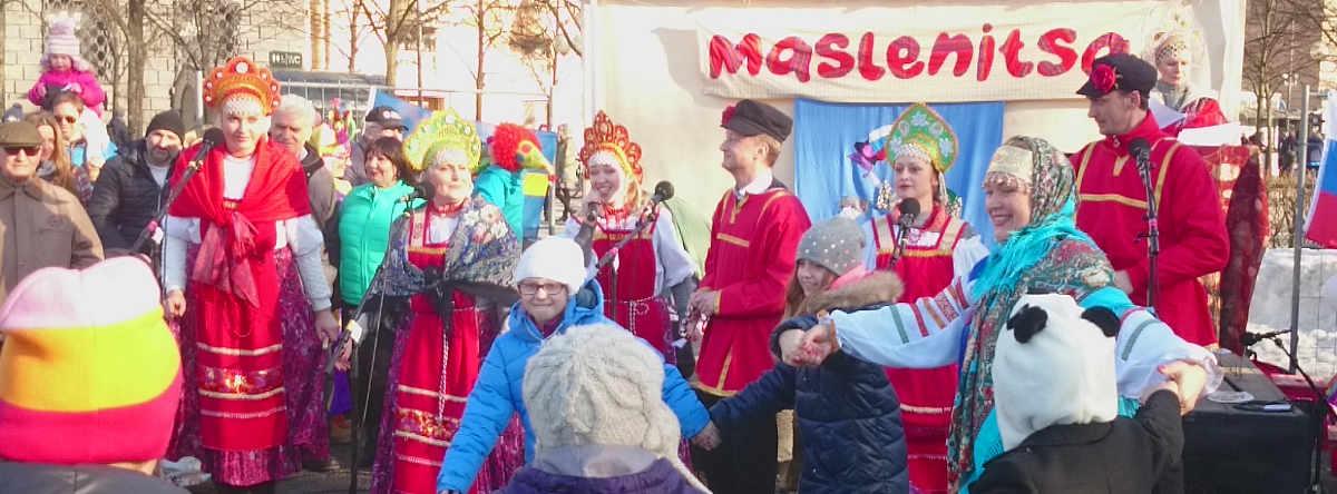 Skruvs sånggrupp Slávenka på maslenitsa i Stockholm 25 februari 2017